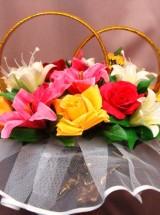 Кольца на авто розы и лилии Кл-036 Прокат