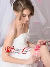 Подвязка розовая-айвори Подв37