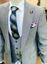 Мужской костюм (тройка) Серый